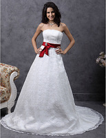 Listen ! Smelling... Yesterday Once M......A-line Sweetheart Court Train Lace Satin Belt Wedding Dress