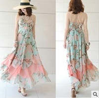 Long Dress Chiffon Dress Free Delivery in Europe and the America lady sling