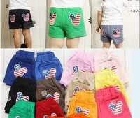FREE SHIPPING girl's boys  children's  kids Clothing  baby summer clothes pants shorts mickey head
