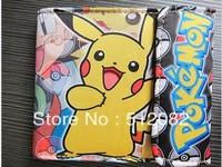 Cute Pokemon Pikachu Pokeball Cloth Wallet Purse Japanese Animation Cosplay Gift  Free Shipping