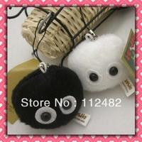 Free shipping TOTORO 5cm Black and white plush toy pendant mix 100pcs/lot
