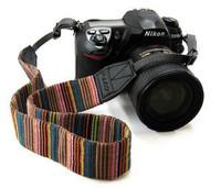 Universal Color Stripes Soft red Camera Neck Straps Shoulder Strap Belt Grip For DSLR Nikon Canon Panasonic Sony Pentax