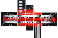 Free Shipping Abstract Oil Paintings Painted by Hand Red and Black Wholesale Price from China
