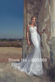 2014 ROMANTCI WEDDING Mermaid Trumpet Bridal Dresses Lace Overall Wedding Dress Caps Spagetti Strap Bridal Gowns WDL16