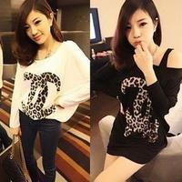 2013 fashion women summer spring t-shirt printed women t shirt women tops one shoulder women clothes