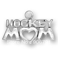 free shipping 15pcs a lot 2013 newest sporty antique silver plated hockey mom charm jewelry