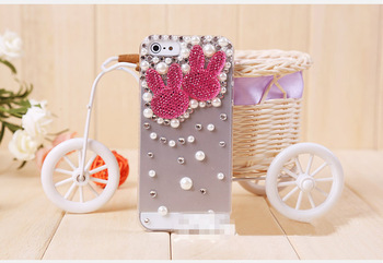 3D RABBIT/Mickey Mouse/Heart/Star Bling Crystal Hard Case Cover for Apple iPhone 5 5G Free shipping