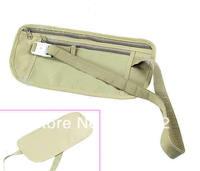 J35 Free Shipping 1pc Travel Pouch Hidden Compact Security Money Waist Belt Bag Pocket