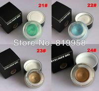 Hot Sale!! Gold Eye Liner Gel 4 Colors Water Proof Eyeliner Gel 21# 22# 23# 24#