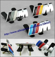 20pcs DHL EMS Top Quality Color ///M M Tech Metal 3D Hood Front Car Logo Grill Badge Grille Emblem Badge Yellow Blue