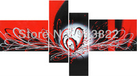 Free Shipping Abstract Oil Paintings Painted by Hand Black and Red Modern Art Home Decoration