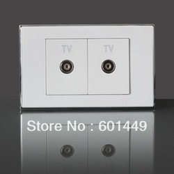 Electrical switch / socket / wall switch / circuit breaker / Slot 118/2 TV socket / cable TV outlet(China (Mainland))