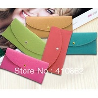 New arrival 2013 Women handbags wallet thin hand bag card bag envelope bag free shipping