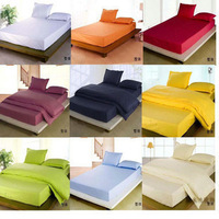 Free shipping  solid color bed fitted sheet 200*120cm(TWIN SIZE) simmons  mattress cover white orange yellow green blue beige