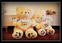 high quarlity low price  70cm white Teddy Bear, Lovers Big bear Arms Stuffed Animals Toys Plush Doll ,I LOVE YOU bear,retails