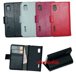 Stand Cover Mobile Phone Case Leather Case For LG Optimus L5 E610 E612(China (Mainland))
