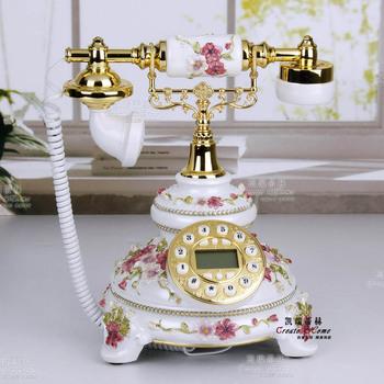 Fashion antique rustic landline telephone fashion gift backlight hands-free household vintage