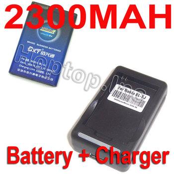 2300MAh Phone Battery BL-5J + Charger For NOKIA BL-5J BL-4J 5800XM/5800T/5802XM/5800iXM/5900XM/N900/X6/X6-00/X6M/5800W/C3-00