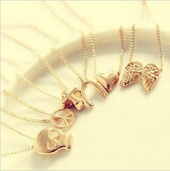 12pcs/lot hot selling 2014 wholesale Porcellaneous fashion wishing necklace chain fashion necklace mischa barton 0081