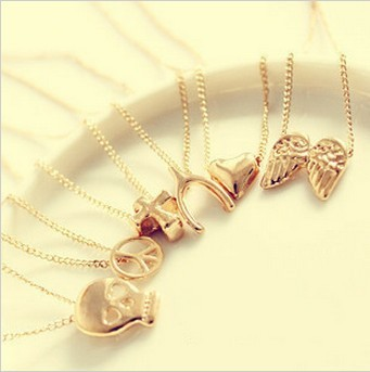 hot selling 2015 wholesale Porcellaneous fashion wishing necklace chain fashion necklace mischa barton 0081