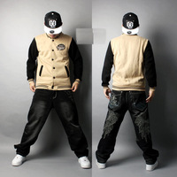 2013 hip-hop jacket dancer uniform baseball uniform skate clothing free ship jumper