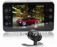 X60 Dual Camera Car DVR 140 degrees wide Angle 2.7inch LCD HD1280*720P G-Sensor Free Shipping