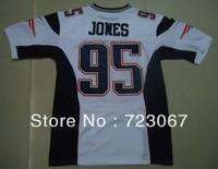 Free shipping American football ELITE #95 Jones Chandler 95 white color away cheap Jersey jerseys gift size M-XXXL