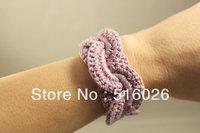Crochet Cuff ,Crochet Bracelet,Crochet Bracelet Infinity Link Cuff, Wide Cuff, Crochet Lace Bracelet, Ivory Lace Cuff 10 pcs/lot
