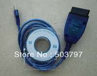 5Pcs/Lot  Free Shipping Vag kkl 409 usb USB KKL VAG 409 COM obd ii diagnostic cable