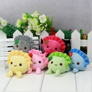 Chinese specialty food dumpling shape plush toys mini the 6CM pendant plush mobile rope cute strap charm key chain