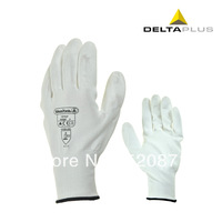 Min 5 pairs cheap knitted Deltaplus PU coating dip protection wear-resistant fine operation work gloves