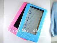 "Real 4GB Ebook Reader 7""  720P HD Screen Video FM Radio 4 Colors High Quality 1pcs Free Shipping"