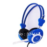 Hot sale! Earphones black spring line blue headset earphones headset