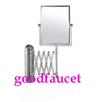 Free shipping Chrome brass Wall Mount  Beauty Cosmetic Mirror Dual Side 3x 1x Magnifying Mirror 8 inches Square Extension Mirror