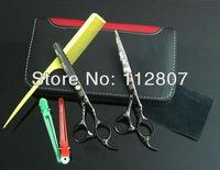 Super Good !!!Free Shipping!!! Black Sakura 5.5 INCH Cutting Thinning Scissors Professional Hair Scissors 9CR13 Steel