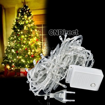 220V10M 100 LED White Lights party lights led christmas lights decoration Party Twinkle string lights TK0040