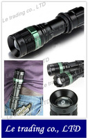 Wholesale Zoomable Led flashlight with Cree Q5 Led bulb,portable using for security,free shipping