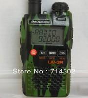 mini porket walkie talkie BAOFENG UV-3R II dual band dual display two way radio with camouflage colour