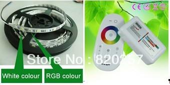 DHL EMS free shipping 2lots RGBW RGBWW 4channel strip set 5m reel 12V 5050 smd 300+RGBW wifi compatible controller