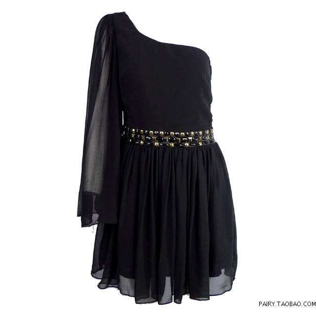 O LA LA-- Youoccasionally lipsy beading one shoulder formal dress oblique christmas 033096(China (Mainland))