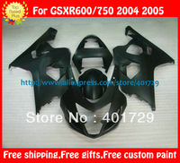 full fairings + seat cowl for Suzuki GSXR-600 750 GSX-R600 R750 2004 2005 matte flat  black body kit with free windshield