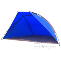Hot Selling Large Size 3-4 Person Folding Beach Sun Shelter Outdoor Fishing Tent Camping Tent Single Layer