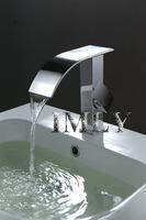 Waterfall Basin Faucet /Contemporary Waterfall Bathroom basin mixer  (Chrome Finish)