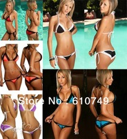 Free Shipping 2013 New split bikini Bikini Swimwear &amp; Swimsuit Beach Bikini Dress sexy beachwear (Lingerie Bra + T-back Sets)
