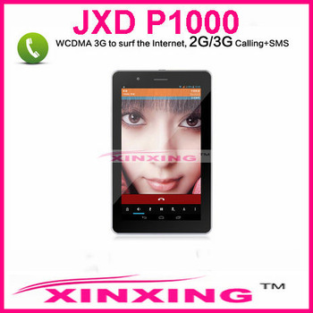 Singapore post or hongkong post Free shipping JXD P1000 7 inch 3G Phone Tablet PC Android 4.1 GPS/Bluetooth 1GB/8GB Dual Camera