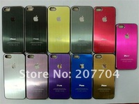 Brushed Aluminum Metal Case for iPhone 5,Carving logo for iphone5.100pcs/lot