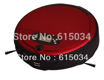Newest Voice Function/Wet&Dry Robot Vacuum Cleaner with Auto recharge,Remote controller,UV light,Time Set, LCD ,CE&ROHS