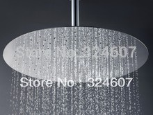 Free Shipping 2MM  thickness & dia in 200mm Round SS Top Shower Head