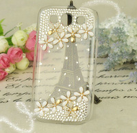 HK post free shipping New Luxury ten flower Diamond Cover For Samsung I9300 Crystal Bling Case For Galaxy SIII S 3