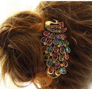 Min.order is $10 (mix order) European Popular Nice Retro Peacock Hair Jewelry Headwear  Hair Band Hair Sticks JK-0021